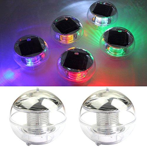 Solarleuchten Poolleuchte, NORDSD 4 Stück Wasserdicht Solar LED Schwimmkugel Farbwechsel RGB Ball Lampe für den Garten, Baum,Teich Swimming Pool