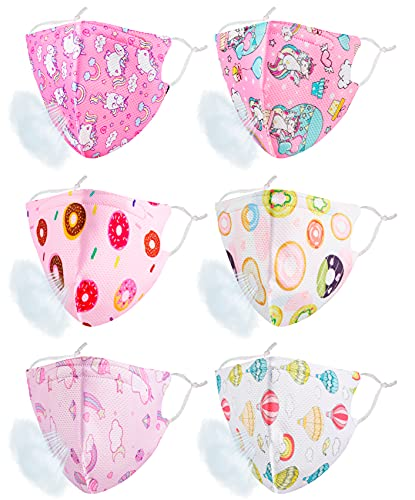 Kids Face Mask Masks Washable, Breathable Reusable Girls Cloth Cute Cotton Pink White Sports Funny Designer Fabric Thin Cover Madks Outdoor Mascarillas Para Niños Small Child Children Teens Youth