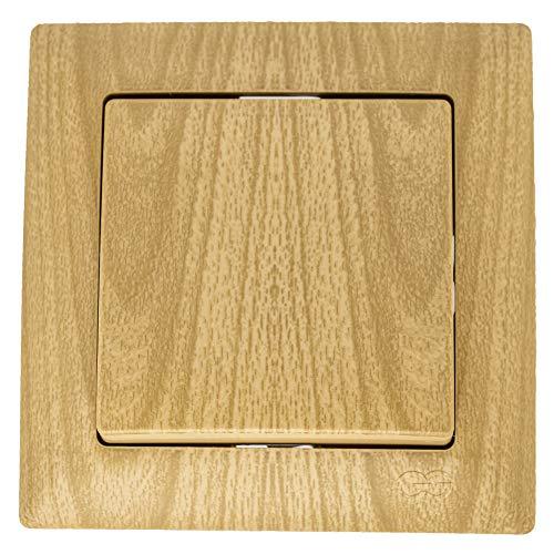 Gunsan Visage - Marco para interruptor + panel empotrado + cubierta de madera de roble
