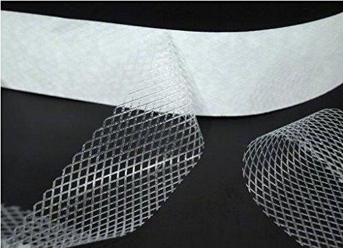 5 psm, 30 mm breed zoomband, strijkband, fixeerband, bijvoorbeeld voor broeken en gordijnen, transparant, lijmt aan beide zijden