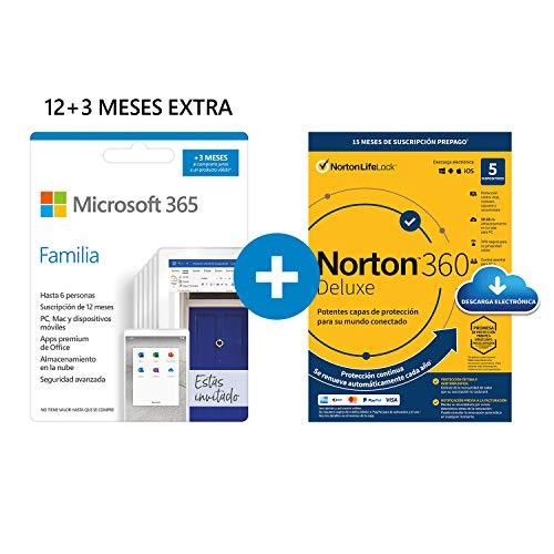 Microsoft 365 Familia | Apps Office 365 | PC/MAC/teléfono | Suscripción anual...