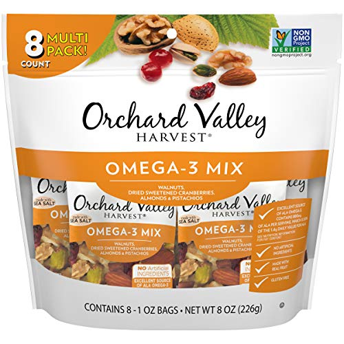 ORCHARD VALLEY HARVEST Omega-3 Mix, 8 oz , Non-GMO, No Artificial Ingredients