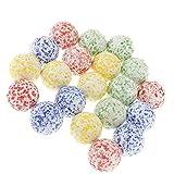 MZY118 90 Piezas de canicas de Vidrio de Colores, Bola de Cristal de canicas a Granel de 16 mm Relleno de jarrones de Marbles Games