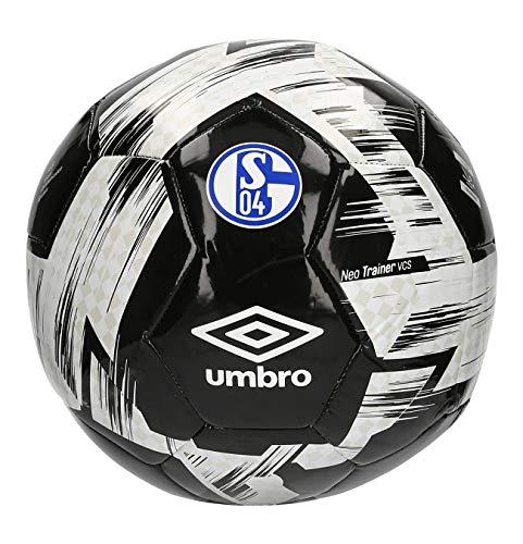 UMBRO Schalke 04 Neo Trainer Ball (5, Black/White)