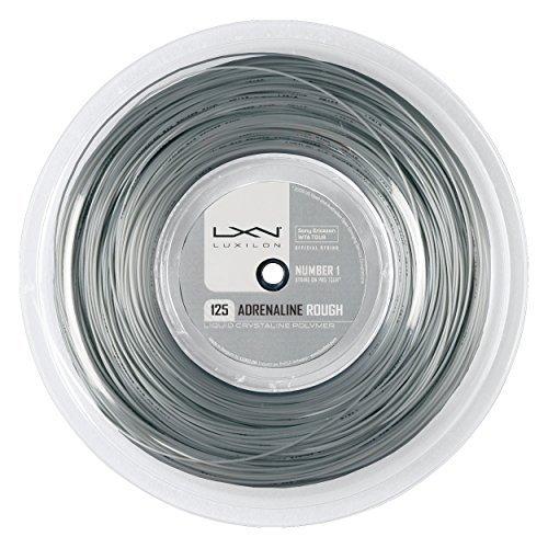 Luxilon Adrenaline - Cuerdas de Tenis (1,25 mm), Color Gris