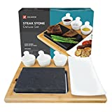 Zelancio Premium Lava Hot Stone Cooking Platter, Hot and Cold Lava Rock Cooking Stone Set, Hibachi Grilling Stone