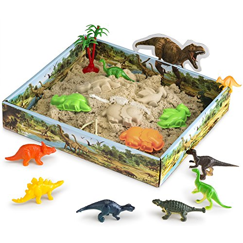 Product Image of the CoolSand 3D Sandbox - Dino Discovery Edition - Set Includes: 1 Pound Moldable...