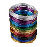 PandaHall Elite 10 Rolls Aluminum Craft Wire 18 Gauge Flexible Artistic Floral Jewelry Beading Wire 10 Colors for DIY Jewelry Craft Making Each Roll 65 Feet