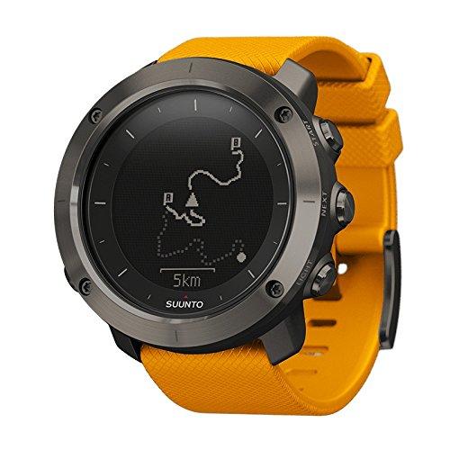 Suunto, SS021844000, Orologio GPS per Outdoor, Ideale per Escursionismo e Trekking, Uomo, Amber, Taglia Unica