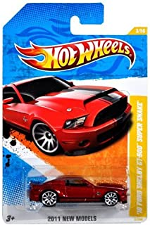 Hot Wheels 2011-003 New Models '10 Ford Shelby GT-500 Super Snake RED 1:64 Scale by Hot Wheels