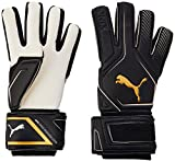 PUMA King IC Guantes De Portero, Adultos Unisex, Black-Gold White, 9