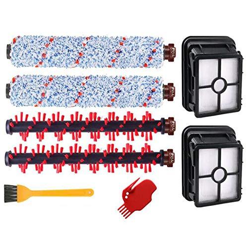 8 piezas de repuesto para aspiradoras de piezas cuadradas de filtro de cepillo Hepa filtro de rollo apto para Bissell Crosswave 1785Q 1785F 1785B accesorios de aspiradora (color de imágenes)