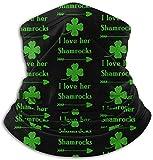 asdew987 I Love Her Shamrocks. Braga para el cuello, calentador de oídos, bufanda, máscara facial, bandanas