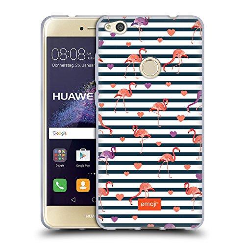 Head Case Designs Oficial Emoji Rayas Flamingos Carcasa de Gel de Silicona Compatible con Huawei P8 Lite (2017)
