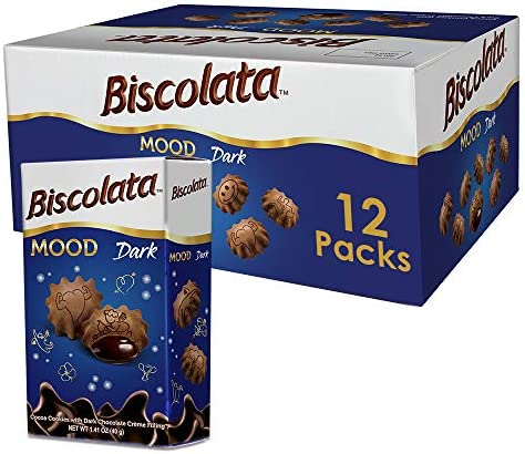 Biscolata Mood Cookies with Chocolate Filling Snacks Crispy Cookie Shell Filled with Milk Chocolate product image