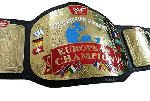 WWF Campeón Europeo Título de Lucha Libre Replica Cinturón de Tamaño Adulto