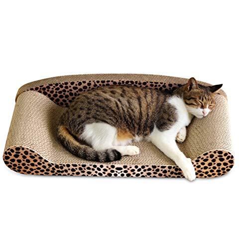 Muodu, Tiragraffi per gatti a forma di divano con disegno di un gatto, per farsi le unghie, dormire e giocare
