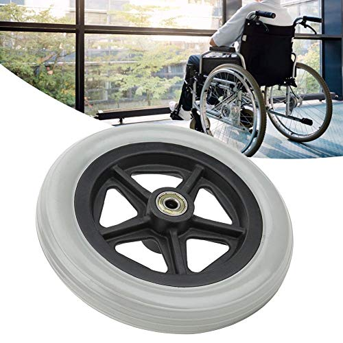 Rolstoelwielen, 7 inch rolstoel voorwielen, gehandicapte oude mensen lopen stoel Rolstoel rubberen wielen