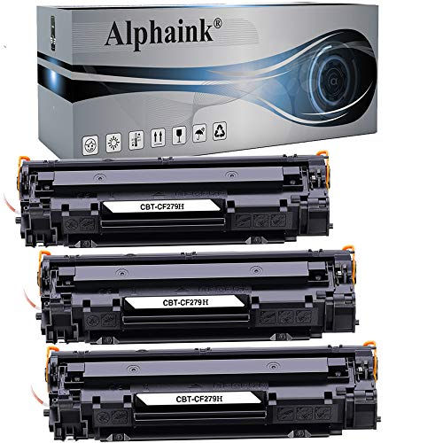 3 Toner Alphaink Compatibile con HP CF279H versione da 2000 copie per stampanti HP Laserjet Pro M12 M12A M26A M26 M26NW