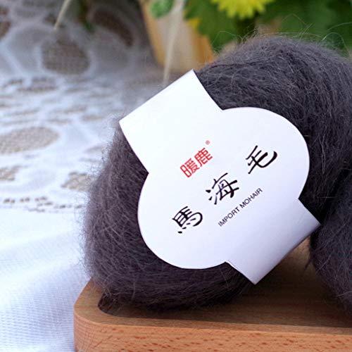 Fogun 25 g Weich Mohair Kaschmir Strick Wolle DIY Schal Häkelgarn Zubehör 22