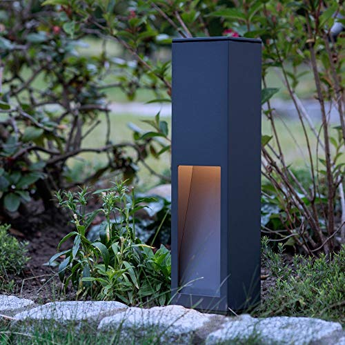 Wegverlichting van aluminium, antraciet, E27, 450 mm | buiten-bollamp designer buitenverlichting modern weglamp edele buitenlamp tuinlamp staande lamp buitenlamp buitenlamp oprit