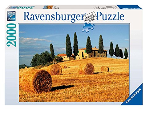 Ravensburger Puzzle 2000 Pezzi, Estate in Toscana, Collezione Foto e Paesaggi, Jigsaw Puzzle per Adulti, Puzzles Ravensburger - Stampa di Alta Qualità, Dimensione Puzzle: 98x75cm