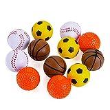 Chiwava 12 Pack 1,6 Zoll Soft Foam Katzenspielzeug Ball Kitten Interaktives Spielzeug
