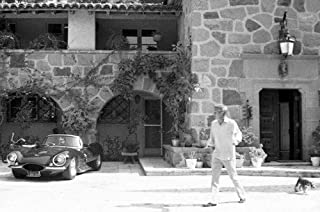 Steve McQueen Brentwood LA home with Jaguar XKSS car 24x36 Poster