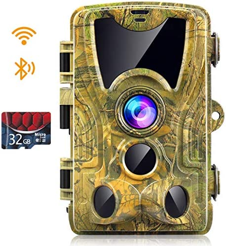 WiFi Trail Camera 24MP 1296P 2021 Newest Hunting Camera with 32GB Card Game Cameras with Night product image