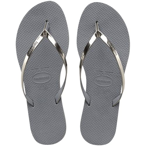 Havaianas Damskie japonki You Metallic, szary - Grey Steel Grey - 39/40 EU