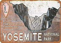 ヨセミテ国立公園ブリキの看板壁の装飾金属ポスターレトロなプラーク警告看板オフィスカフェクラブバーの工芸品