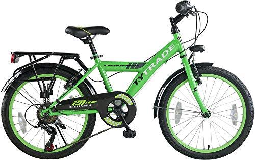 "20\"" 20 Zoll Kinder Jungen City Fahrrad Bike Rad Jungenfahrrad Kinderfahrrad Citybike Cityfahrrad Cityrad Rad Bike 7 Shimano Gang Dynamic GRÜN TYT19-038"