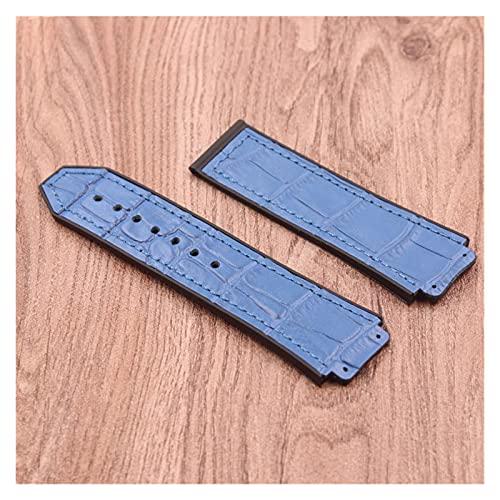ZRNG Reloj Accesorios 25 mm * 19 mm Cuero Caucho Natural Silicone Strap Fit para Hublot Big Bang Strap Fusion F1 Men