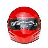 CJJ Casco de motocicleta Star Wars Frp Casco completo Personalidad Casco, Rojo, M