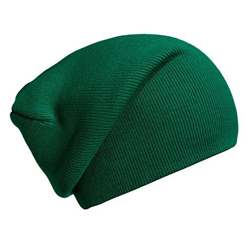 DonDon Wintermütze Mütze klassische Slouch Beanie one Size - Grün