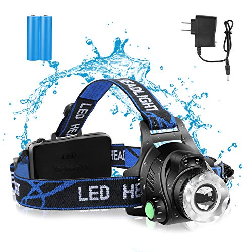 【24 Hours   Wireless induction】1200 Lumen Led Headlamp Flashlight -T6 Spot(Zoomable)+COB Board Flood Light,Waterproof Hard Hat Light Headlight,Up-Close Work Head Light for Outdoor Camping Hunting
