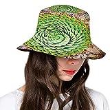 FULIYA Sombrero de cubo de poliéster, chica de dibujos animados místicos con sombrero y folleto de otoño en marco de madera, gorra para mujeres hombres y adolescentes