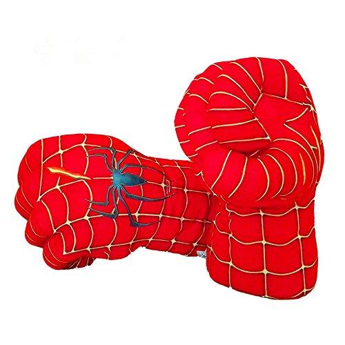Guizen Superhero guantes de boxeo de felpa Cosplay traje manos de juguete suave para Navidad de cumpleaños Regalo de Halloween-Spiderman Smash manos (1 par)