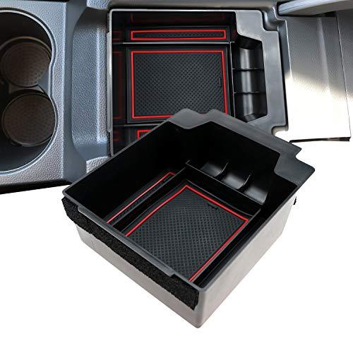 LFOTPP Ateca Handschuhfach Armlehne Aufbewahrungsbox Center Console Armrest Storage Box Innen (Rot)