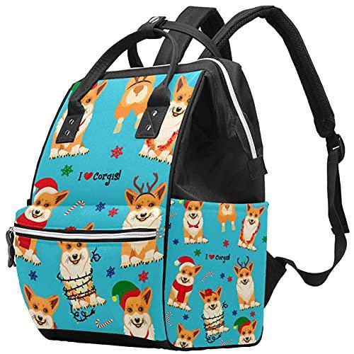 WJJSXKA Mochilas Bolsa de pañales Mochila para portátil Mochila de viaje Senderismo Mochila para mujeres Hombres - Pijamas para perros Doggate