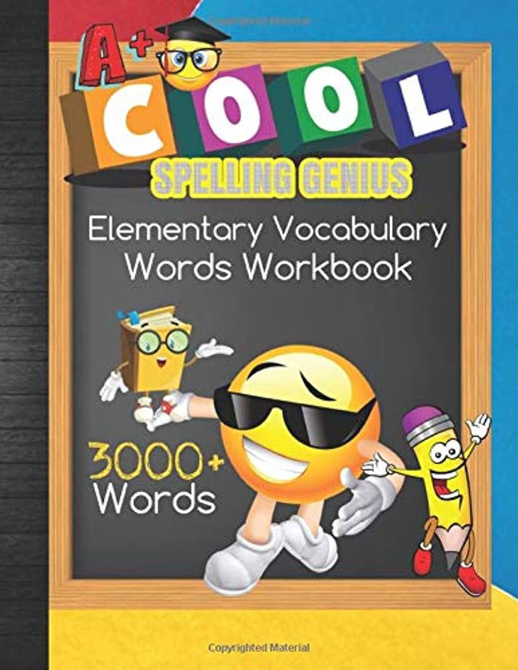 ピザチェリー経済Cool Spelling Genius Elementary Vocabulary 3000+ Words Workbook: 1st - 6th Grade Homeschool Spelling Curriculum or Spelling Bee Preparation Study Words With Blank Testing and Grades Tracker Sheets