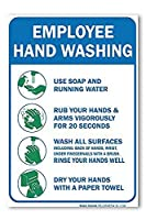 従業員の手洗い 金属板ブリキ看板警告サイン注意サイン表示パネル情報サイン金属安全サイン