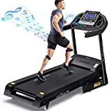 DR.GYMlee Folding 3 Auto Incline 300LB Weight-Capacity Smart Treadmill, Easy Assembly Electric Motorized Running Machine for Home Use with LCD Screen/Heart Rate Monitor/Phone Cup Holder (T600)