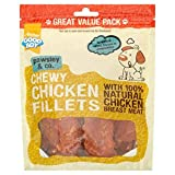 Good Boy - Chewy Chicken Fillets - Dog Treats - Made With 100% Natural Chicken Breast Meat - 320 Grams - Low Fat Dog Treats (Case of 3)