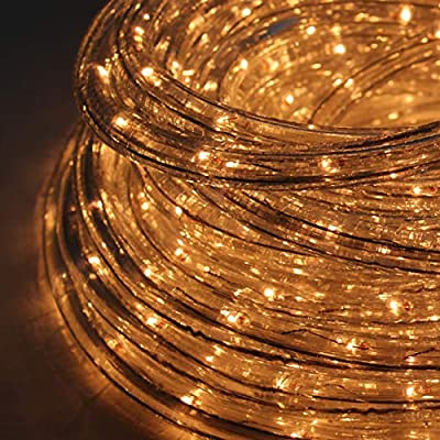 The Christmas Workshop 77620 10 Metre LED Chaser Rope Lights | Indoor and Outdoor Christmas Lights | Bright White | Christmas, Weddings & Gardens | Speed Control