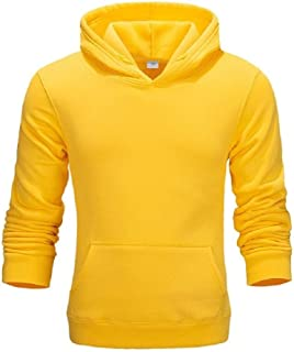 RkBaoye Men's Cargo Pocket Solid Plus Velvet College Style Hoodies Sweater Pullover