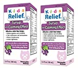 Homeolab USA Kids Relief Calm Syrup, With Calming Effect Grape Flavor- 3.4 oz (Pack of 2)