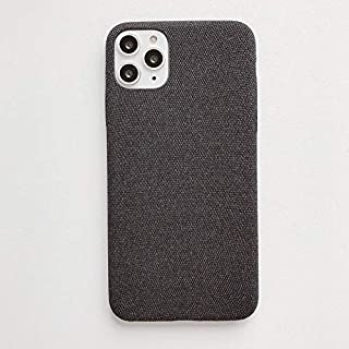 For iPhone 11 Fabric Style TPU Protective Shell New (Red) Hengk (Color : Black)