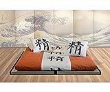 Vivere Zen - Kit Letto 2 Tatami (Tradizionali o Decorati 5,5 cm) + Futon Bio - 2 Tatami 90x200 (=180x200) + Futon Cotone 160x200x11