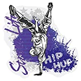 Wandtattoo Jugendzimmer Musik Wandsticker Cooler Breakdancer im Hip Hop Stil Tä